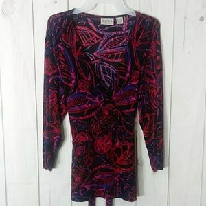 Chico's Travelers wrap blouse size 2